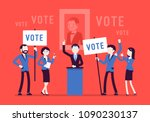 election campaign voting.... | Shutterstock .eps vector #1090230137