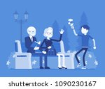 grandparents and grandson in... | Shutterstock .eps vector #1090230167