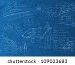 architectural blue calculation... | Shutterstock . vector #109023683