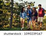 shot of a group of friends... | Shutterstock . vector #1090239167