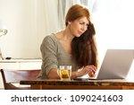 portrait of beautiful mature... | Shutterstock . vector #1090241603