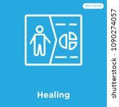 healing vector icon isolated on ... | Shutterstock .eps vector #1090274057