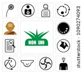 set of 13 simple editable icons ...   Shutterstock .eps vector #1090274093
