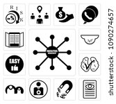 set of 13 simple editable icons ... | Shutterstock .eps vector #1090274657