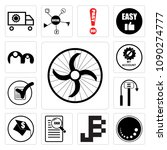 set of 13 simple editable icons ...   Shutterstock .eps vector #1090274777