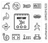 set of 13 simple editable icons ...   Shutterstock .eps vector #1090291523