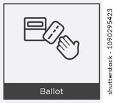 ballot icon isolated on white... | Shutterstock .eps vector #1090295423