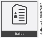 ballot icon isolated on white... | Shutterstock .eps vector #1090297847