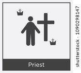 priest icon isolated on white... | Shutterstock .eps vector #1090298147