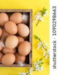 easter composition of eggs and... | Shutterstock . vector #1090298663