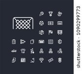 footbal   soccer gate icon in... | Shutterstock .eps vector #1090299773