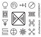 set of 13 simple editable icons ... | Shutterstock .eps vector #1090308947
