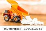 medicine pills or capsules on...   Shutterstock . vector #1090313363