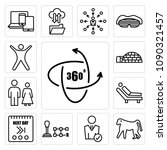 set of 13 simple editable icons ...   Shutterstock .eps vector #1090321457