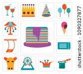 set of 13 simple editable icons ... | Shutterstock .eps vector #1090327877
