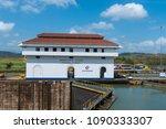 panama canal  panama  april 19  ...   Shutterstock . vector #1090333307