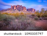 the superstition mountains are... | Shutterstock . vector #1090335797