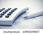 financial accounting pen and... | Shutterstock . vector #1090339847