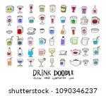 hand drawn sketch doodle vector ... | Shutterstock .eps vector #1090346237
