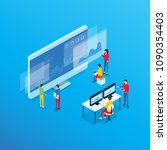 business analytics design... | Shutterstock .eps vector #1090354403