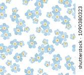 forget me not myosotis floral...   Shutterstock .eps vector #1090380323