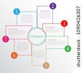 vector infographic templates... | Shutterstock .eps vector #1090426307
