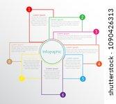 vector infographic templates... | Shutterstock .eps vector #1090426313