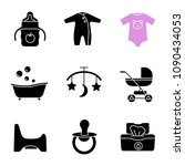 childcare glyph icons set.... | Shutterstock .eps vector #1090434053