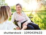 elderly grandmother in...   Shutterstock . vector #1090439633
