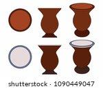 cuia of yerba mate black outline | Shutterstock .eps vector #1090449047