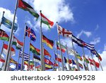 World flags - stock photo