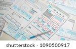 website designer creative... | Shutterstock . vector #1090500917