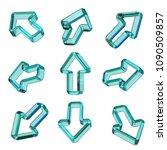 green transparent dimensional...   Shutterstock . vector #1090509857