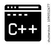 programming vector glyphs icon | Shutterstock .eps vector #1090512677