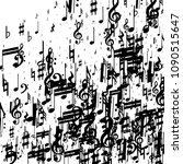 musical notes on white... | Shutterstock .eps vector #1090515647
