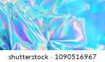 holographic iridescent surface... | Shutterstock . vector #1090516967
