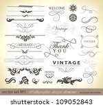 calligraphic design elements... | Shutterstock .eps vector #109052843