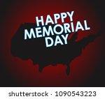 memorial day greeting vector... | Shutterstock .eps vector #1090543223