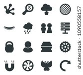black vector icon set rain... | Shutterstock .eps vector #1090558157