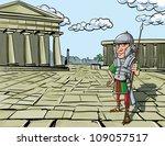 cartoon roman legionary...   Shutterstock .eps vector #109057517