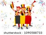 russia 2018 world cup  belgium... | Shutterstock . vector #1090588733