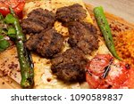 grilled meat balls in... | Shutterstock . vector #1090589837