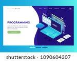 header for website. homepage.... | Shutterstock .eps vector #1090604207