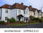 Typical 1930s semi detatched house with Bay Window, in Bristol, England - stock photo