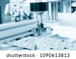 cnc milling machine working ... | Shutterstock . vector #1090613813
