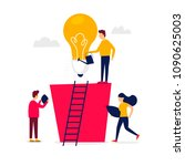 idea  brainstorming  teamwork.... | Shutterstock .eps vector #1090625003