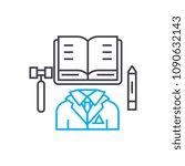 executive director vector thin... | Shutterstock .eps vector #1090632143