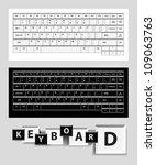 white and black computer keys.... | Shutterstock .eps vector #109063763