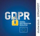eu gdpr general data protection ... | Shutterstock .eps vector #1090649297