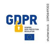 eu gdpr general data protection ... | Shutterstock .eps vector #1090649303